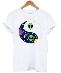 Alien Yin Yang Space T-shirt